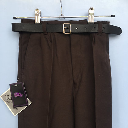 Trousers - Uniform - Brown with elasticated waist