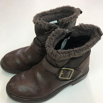 Boots - Brown leather - Shoe size 10 (jr)