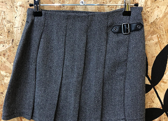 Skirt - Pleated woven fabric - Age 12