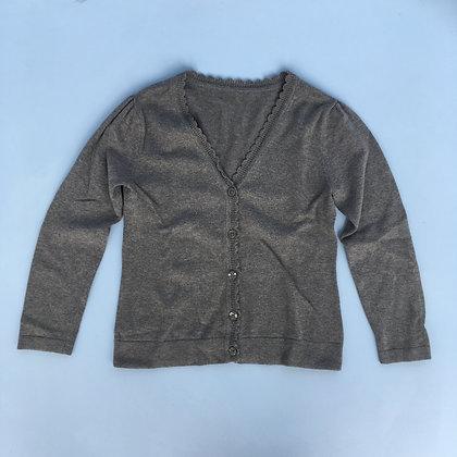 Cardigan - Scalloped neckline - Uniform - Grey
