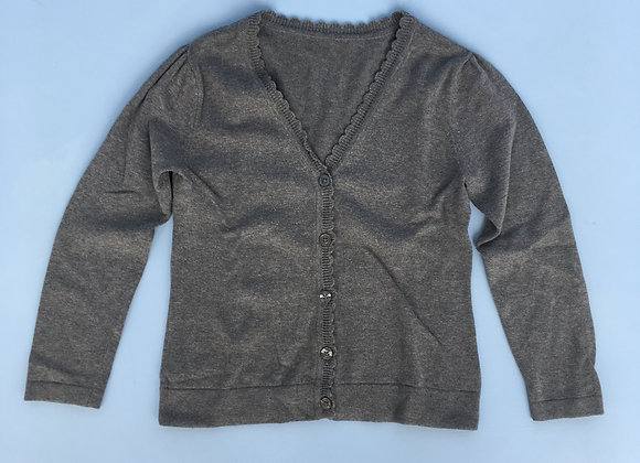 Grey Cardigan - With Scalloped Neckline