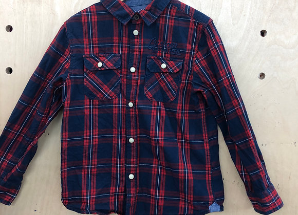 Shirt - Plaid Red Navy - Age 5