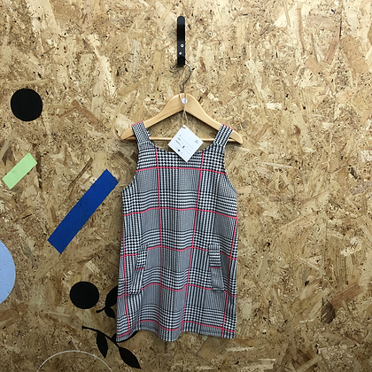 Dress -Grey check - Age 5