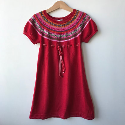 Dress - Red Knitted - Age 5