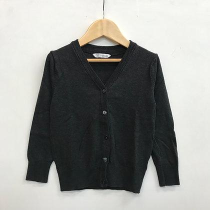 Cardigan - Uniform - Plain Detail - Dark Grey - No Pockets