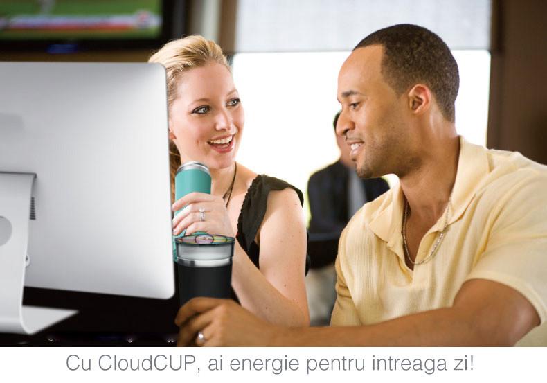 cana inteligenta de tip termos cu functie de reminder cloud cup. Tu stii cata apa bei zilnic?