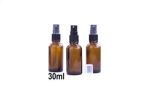 sticla bruna tip spray pentru depozitare amestecuri uleiuri esentiale