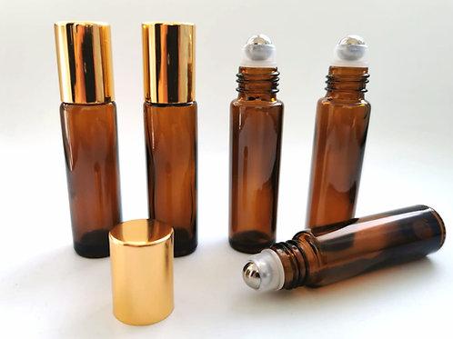 Sticla bruna cu ROLL-ON, capacitate 10 ml - set 5 bucati