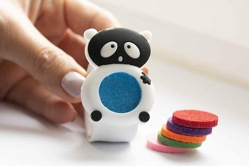 Bratara silicon pentru copii cu difuzor uleiuri esentiale, model Panda