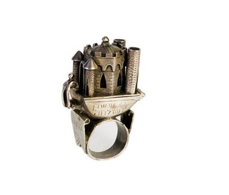 anel em prata , anel judaico de casamento