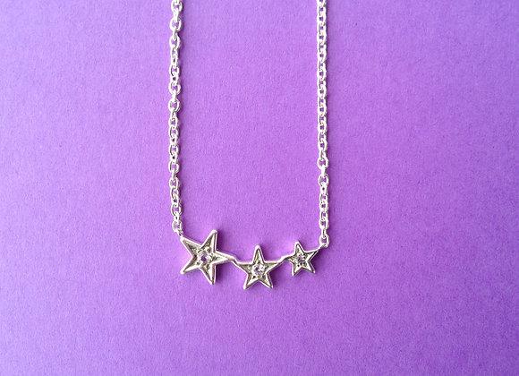 pendente prata estrela com pedras