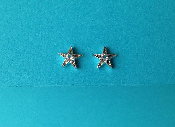 brinco prata  estrela