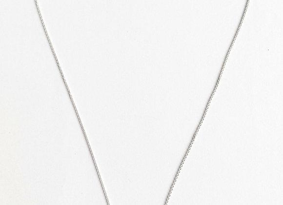 cordao medio  de elos ovais em prata 925  a metro