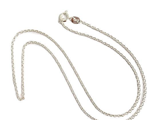 colar medio de elos em prata 925 unidade 45 cm