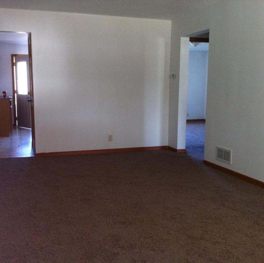 Living room: view from front door