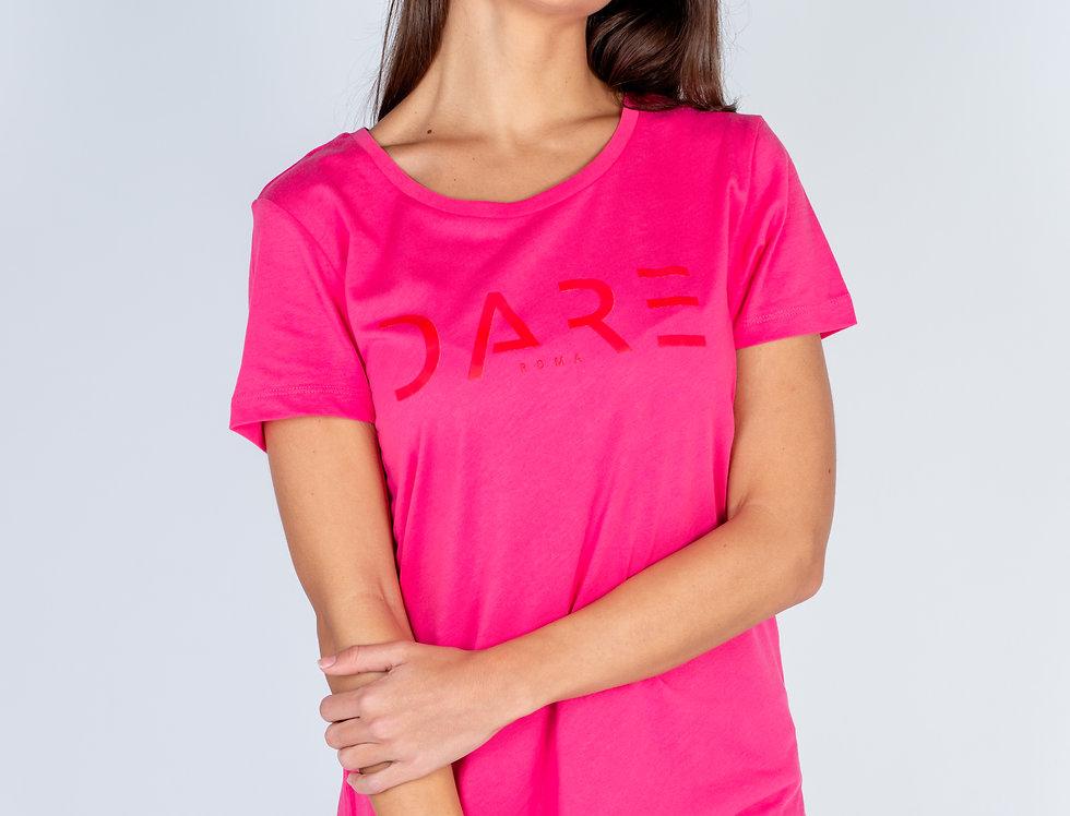T-Shirt in cotone 100% organico con stampa Dare