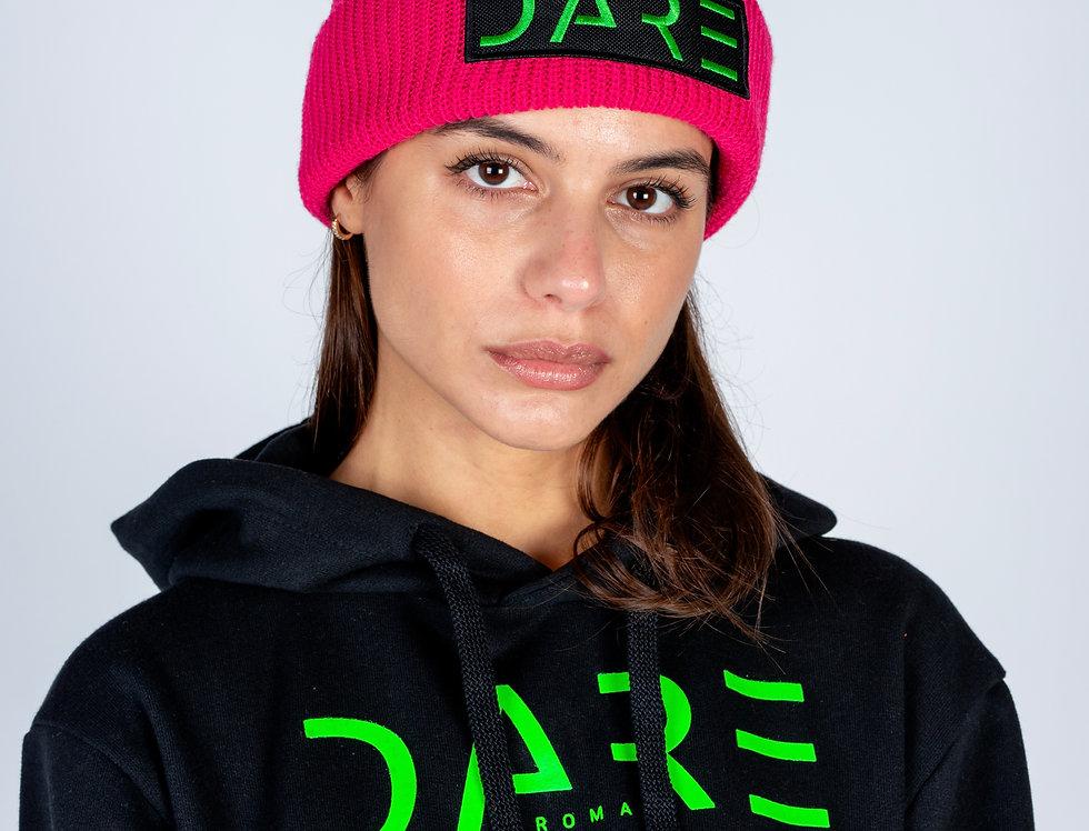 Cappello beanie con patch DARE