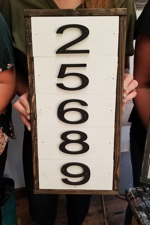 Shiplap address sign