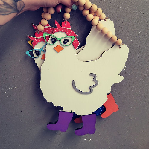 Chicken With Glasses and Boots DIY Kit
