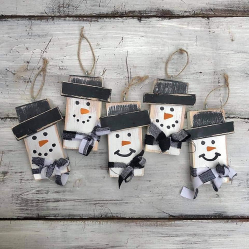 Snowman DIY ornament kit