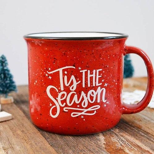 Christmas Holiday mug, Tis the Season