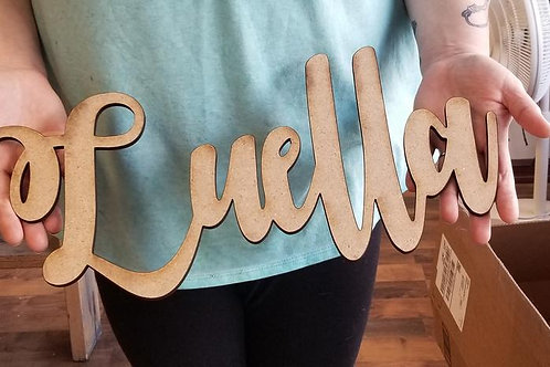 Unfinished //3D Name // 20 inch Personalized // Name or Word of your Choice