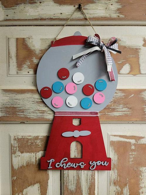 I chews you Door Hanger//DIY kit //Girls Night// Paint night// image 0 I chews