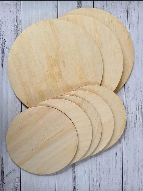 Unfinished Wooden Rounds