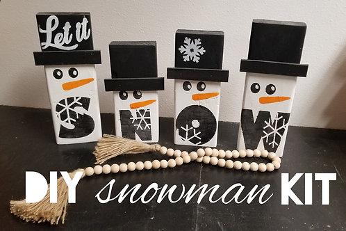 Snowman shelf sitter DIY kit