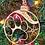 Thumbnail: Dog paw print snowflake personalized wood ornaments laser cut 2020