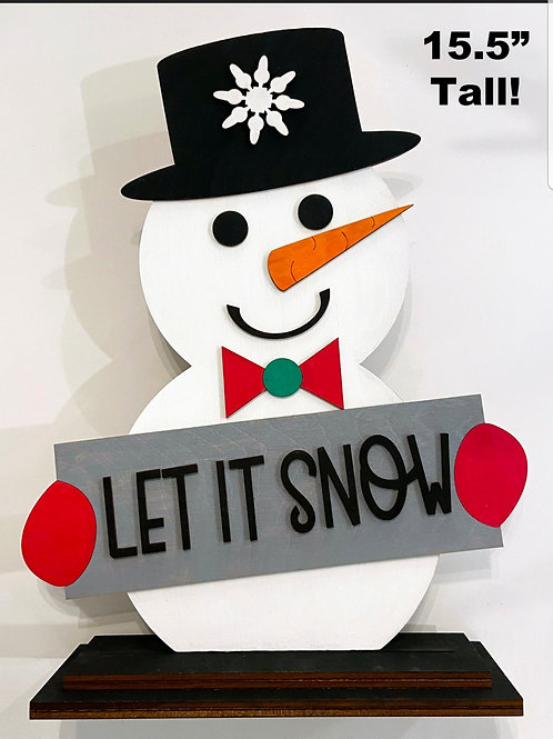 DIY KIT snowman shelf sitters
