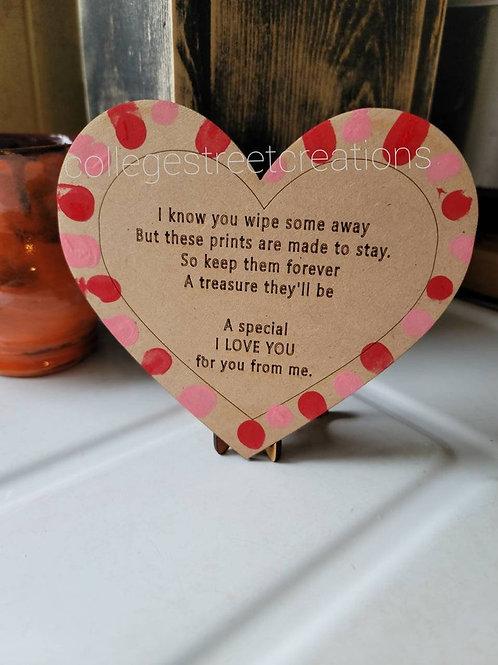 DIY fingerprint heart kids Painting Kit // DIY Painting Kit // Valentine's