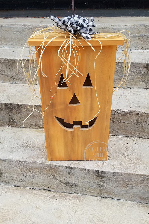 Rustic Jack-o-lantern