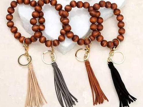 Keychain bracelet// Keychain bangle// Beaded keychain bracelet