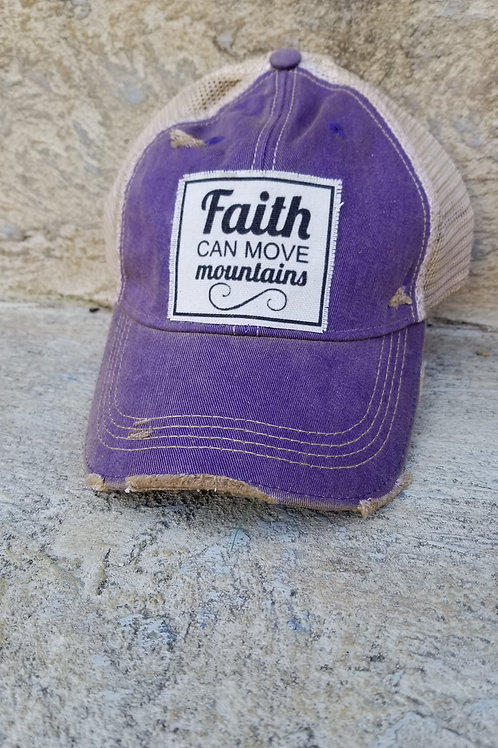 Faith can move mountains Rustic hat