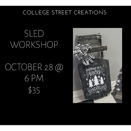 Sled workshop 10/28 @6pm
