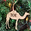 Thumbnail: Camel Toe or Moose Knuckle  funny ornament- laser cut engraved ornament