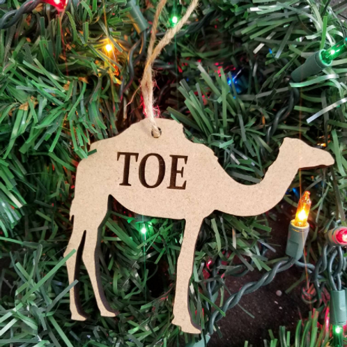 Camel Toe or Moose Knuckle  funny ornament- laser cut engraved ornament