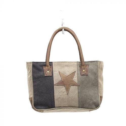 Myra star on canvas bag