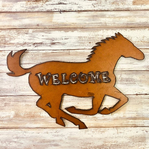 Iron horse welcome