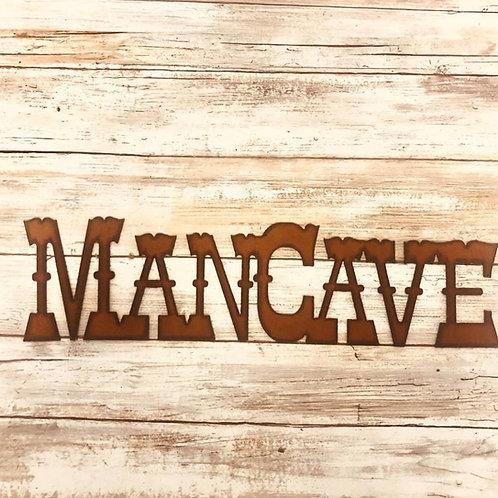 Iron man cave sign