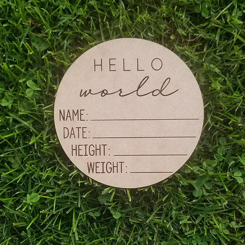 Hello World | Newborn Birth Stats Announcement