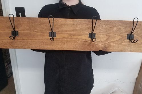 3 foot Rustic Farmhouse coat rack