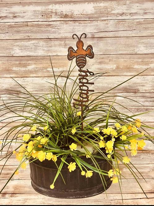 Iron Bee happy bumblebee garden steak