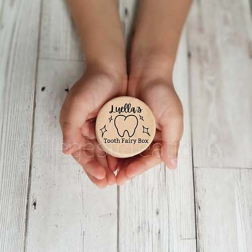 Personalized Wooden Tooth Fairy Box