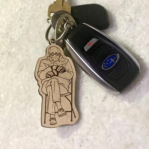 Bernie's mittens key chain