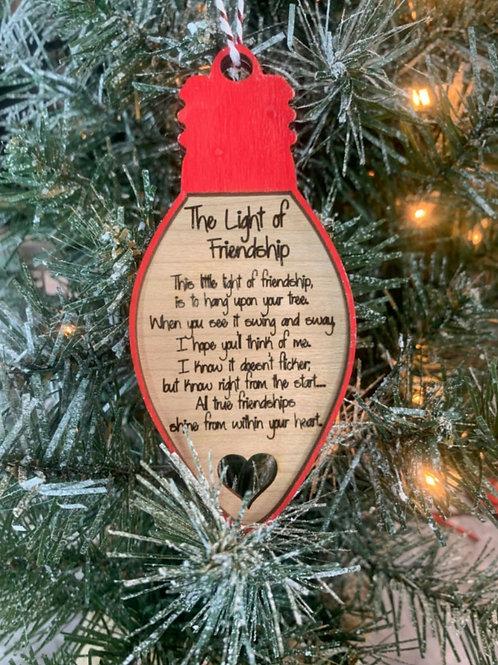 Light of friendship ornament