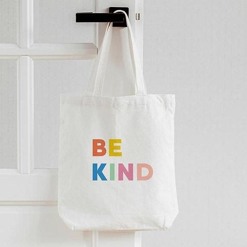 DIY kit be kind canvas tote bag