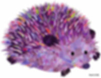 03-Purple-Hedgehog-Paper-Collage-Art-Hol