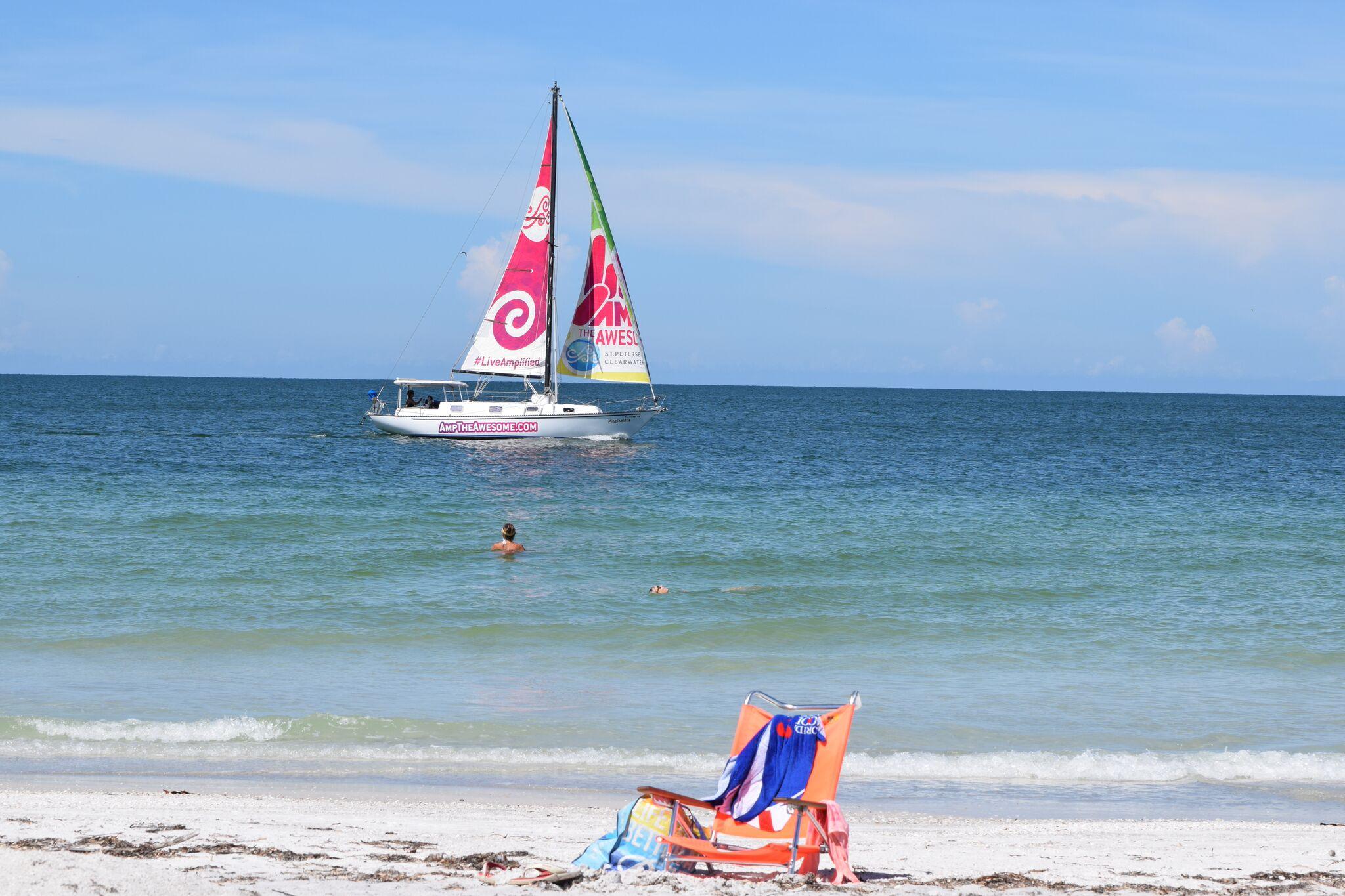 Sailing with a Beach Chair